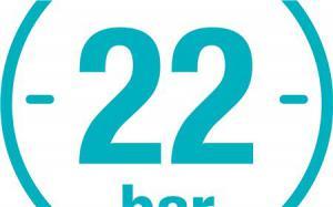 Выдерживает высокое давление 22 бара