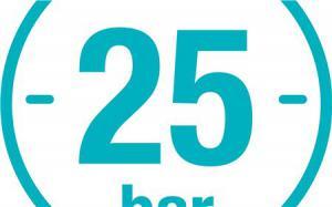 Устойчивость к высокому давлению 25 бар