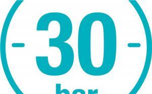 Отличная устойчивость к высокому давлению 30 бар